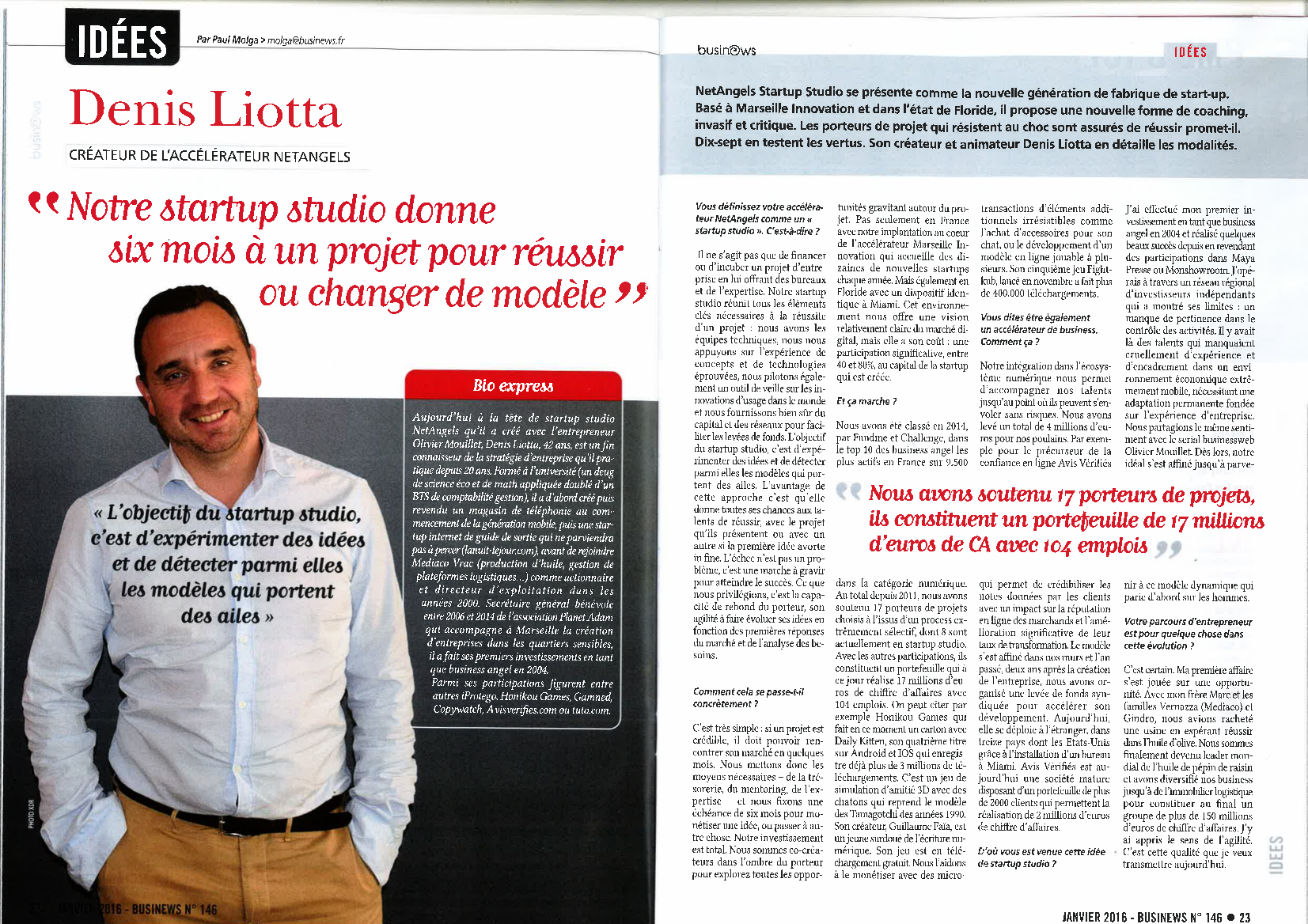 Netangels : accelerateur et startup studio